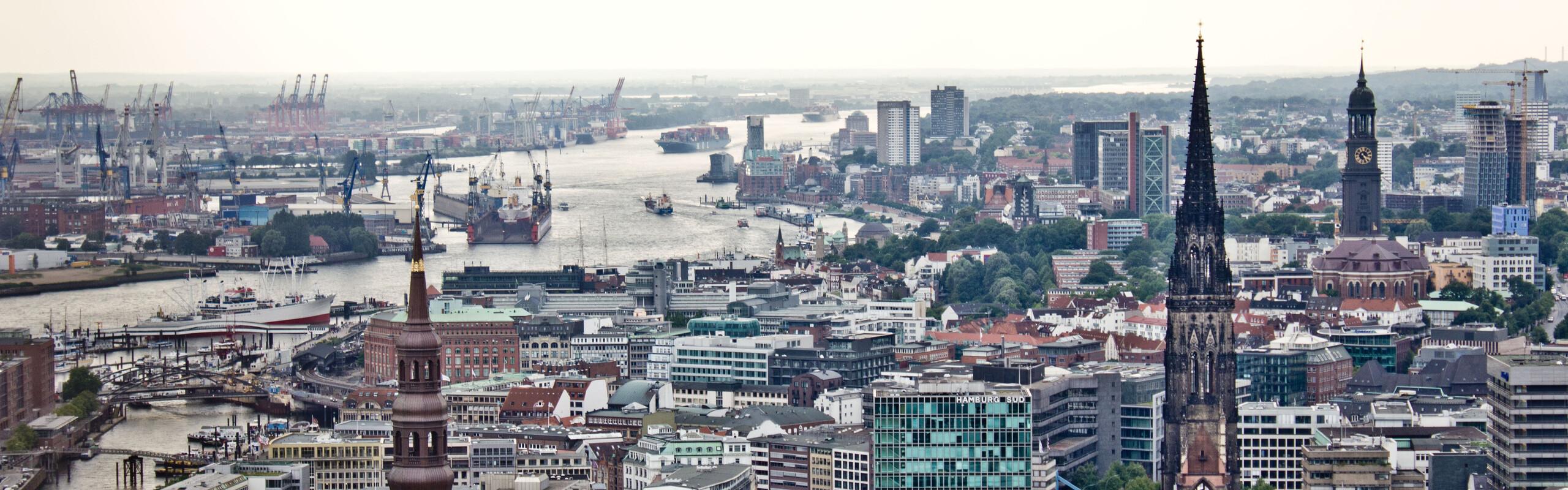 Vue sur le port de Hambourg (Elbpresse.de)